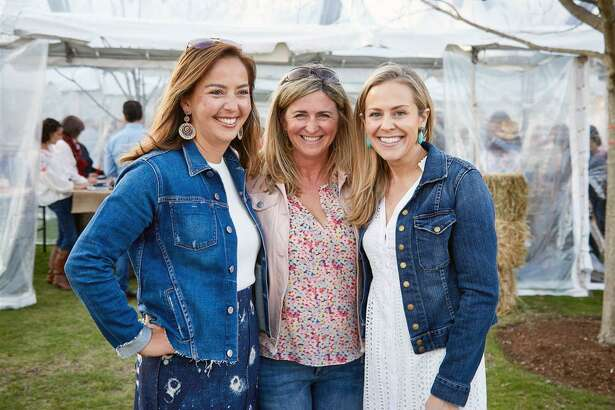New Canaan Country Schools biennial dinner and auction, A Country Night Under the Stars on April 28 was co-chaired by, from left, Mariko LeBaron of New Canaan, Susan Barr of Darien and Sarah Irwin of New Canaan.