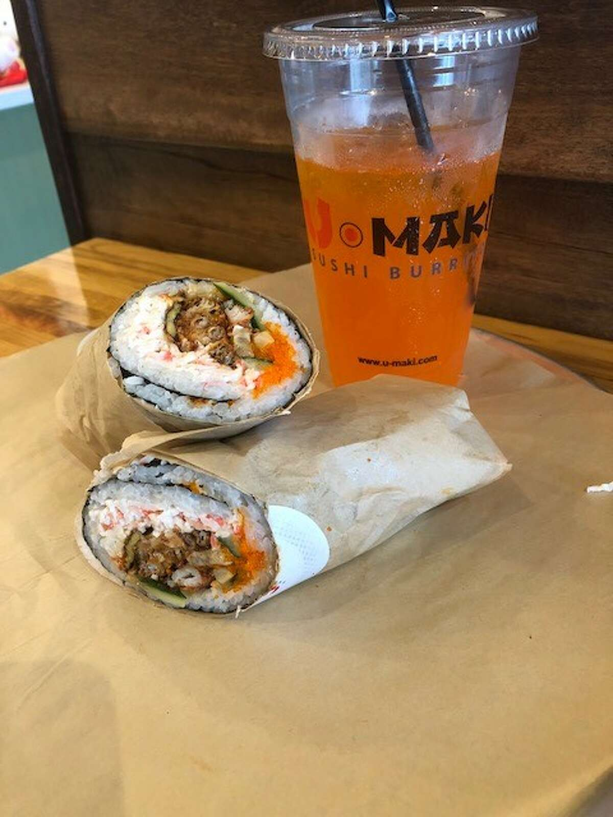 A second U'Maki Sushi Burrito restaurant has opened at 98 West Grand Parkway South at the Shoppes at Grand Crossing in Katy.
