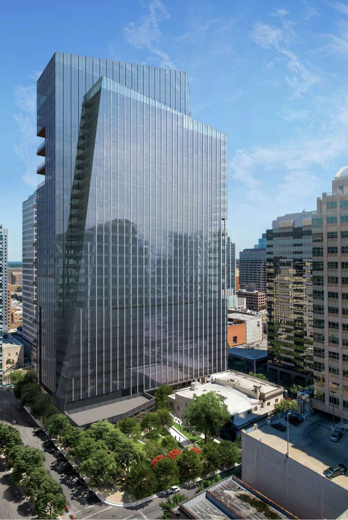Job-search firm Indeed plans to take 10 floors in a planned office tower in the Block 71 complex in downtown Austin, Texas.