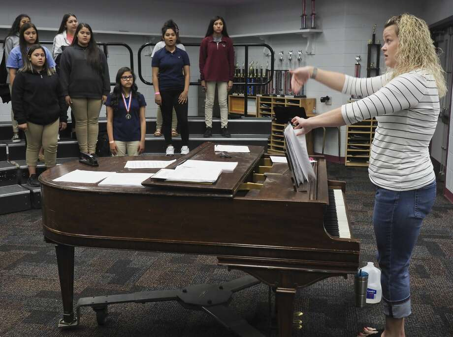 Melanie Hall, choir teacher at Abell Junior High. 05/18/18 Tim Fischer/Reporter-Telegram Photo: Tim Fischer/Midland Reporter-Telegram