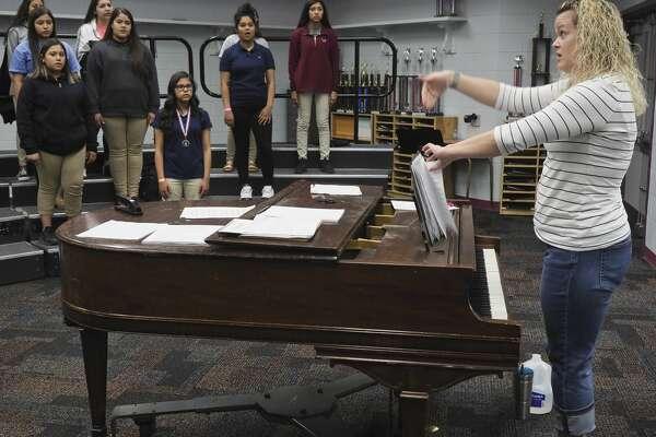 Melanie Hall, choir teacher at Abell Junior High. 05/18/18 Tim Fischer/Reporter-Telegram