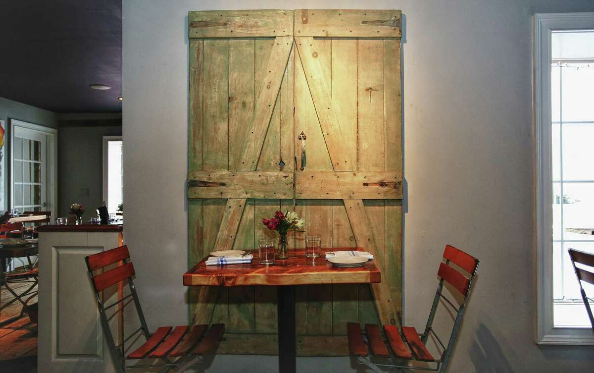 Vincent Cappelletti recently opened Lucas Local in Newtown. In designing the space, he relied on family and friends, as well as flea market finds to fill the space. These old cellar doors where a gift from his girlfriend's parents.