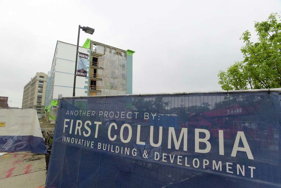 A view of the First Columbia Development construction project along River Street on Wednesday, May 16, 2018, in Troy, N.Y.  (Paul Buckowski/Times Union) Photo: PAUL BUCKOWSKI / (Paul Buckowski/Times Union)