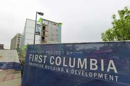 A view of the First Columbia Development construction project along River Street on Wednesday, May 16, 2018, in Troy, N.Y.  (Paul Buckowski/Times Union)