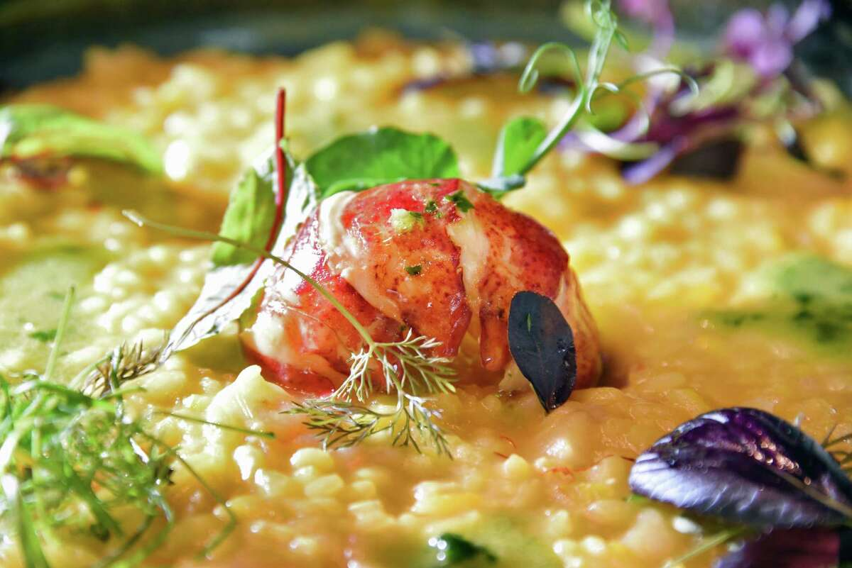 Risotto with lobster and shrimp at Taverna Novo on Beekman Street Wednesday May 9, 2018 in Saratoga Springs, NY. (John Carl D'Annibale/Times Union)