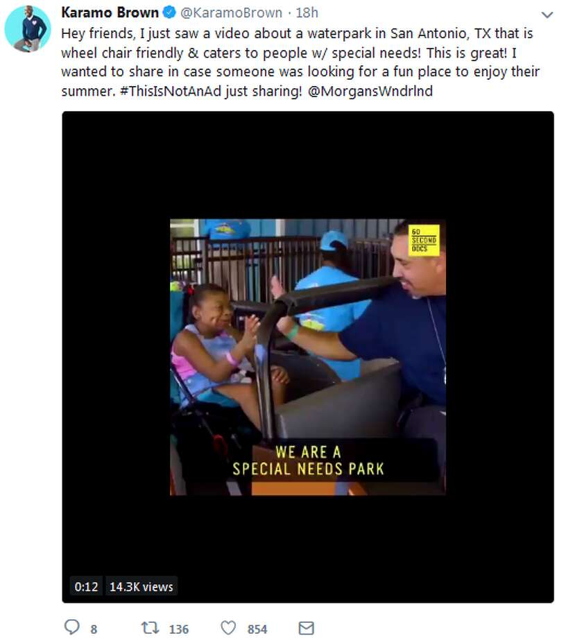 Hey friends, I just saw a video about a waterpark in San Antonio, TX that is wheel chair friendly & caters to people w/ special needs! This is great! I wanted to share in case someone was looking for a fun place to enjoy their summer. #ThisIsNotAnAd just sharing! @MorgansWndrlnd