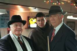 Veteran actors Ernest Borgnine (left) and Joseph Campanella (right) guest star as an ex-con and a retired U.S. treasury agent who stir up trouble for Gary (Kyle Chandler, center) when they attempt to uncover Al Capone s hidden fortune, on EARLY EDITION, Saturday, Jan. 16 (8:00-9:00 PM, ET/PT) on the CBS Television Network. HOUCHRON CAPTION (01/22/1999):  Borgnine