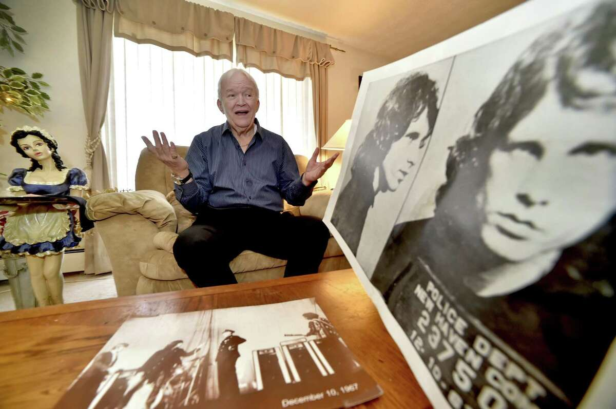 Meriden, Connecticut - Monday, November 27, 2017: Tommy Janette, 72, of Meriden, who was the opening act and former lead singer of the group Tommy and the Rivieras the night the Jim Morrison and his band The Doors were scheduled to play at the New Haven Arena on December 9, 1967.