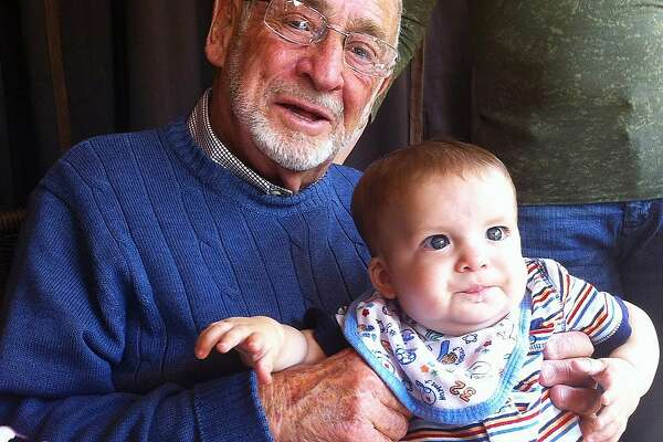 Harry Gluckman, at 84, with great-great grandson, Adrian.