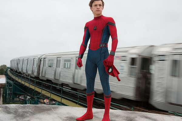 "Tom Holland as Spider-Man faces multiple tests in ""Homecoming."" MUST CREDIT: Chuck Zlotnick, Sony Pictures Entertainment"