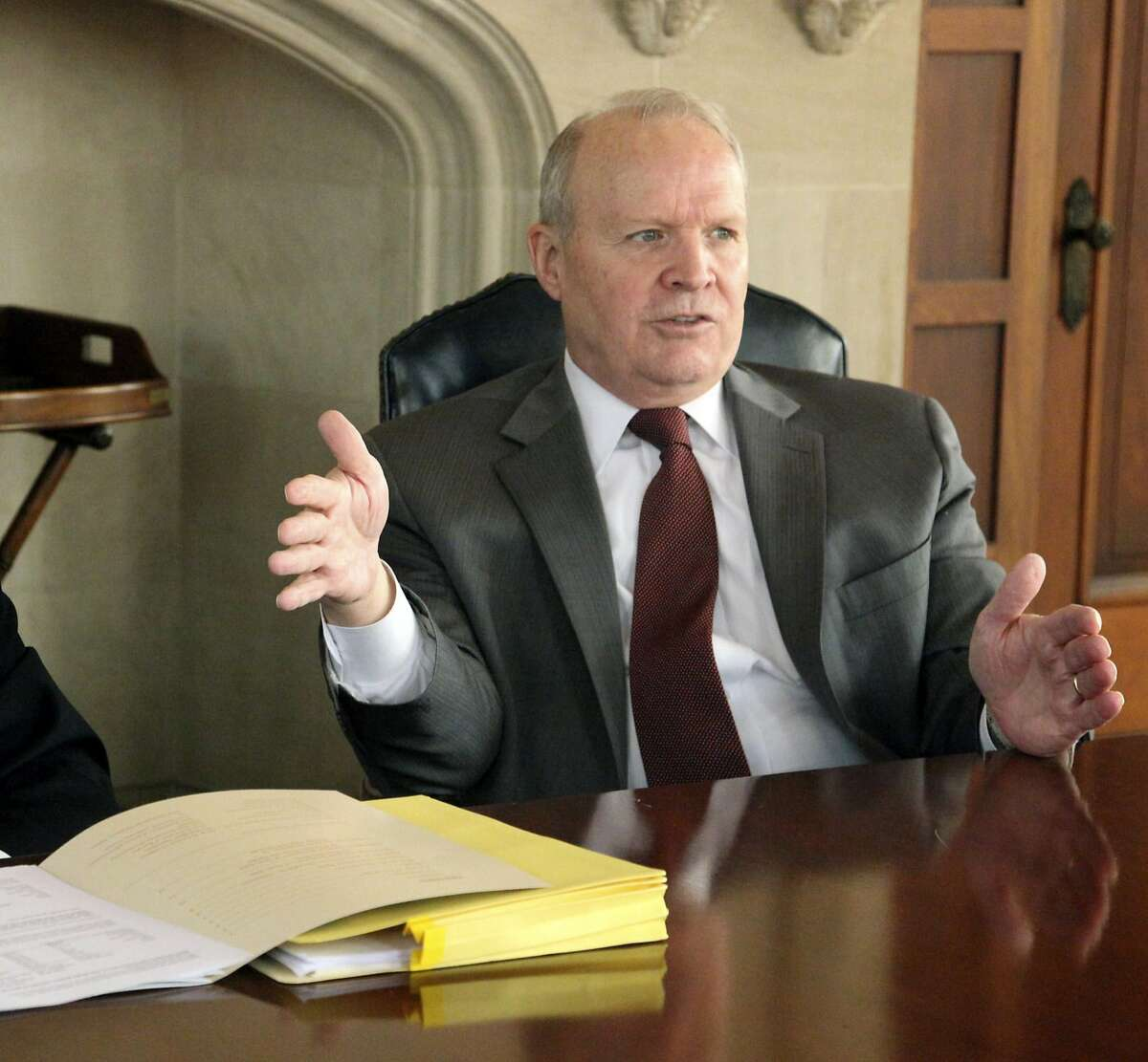 26.Larry R. Faulkner,University of Texas SystemInterim Chancellor Total pay in 2018: $148,333Pay per $1 million in institution's expenses:$41