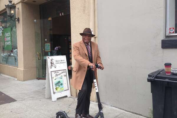 Willie Brown tries out a possible future ride.