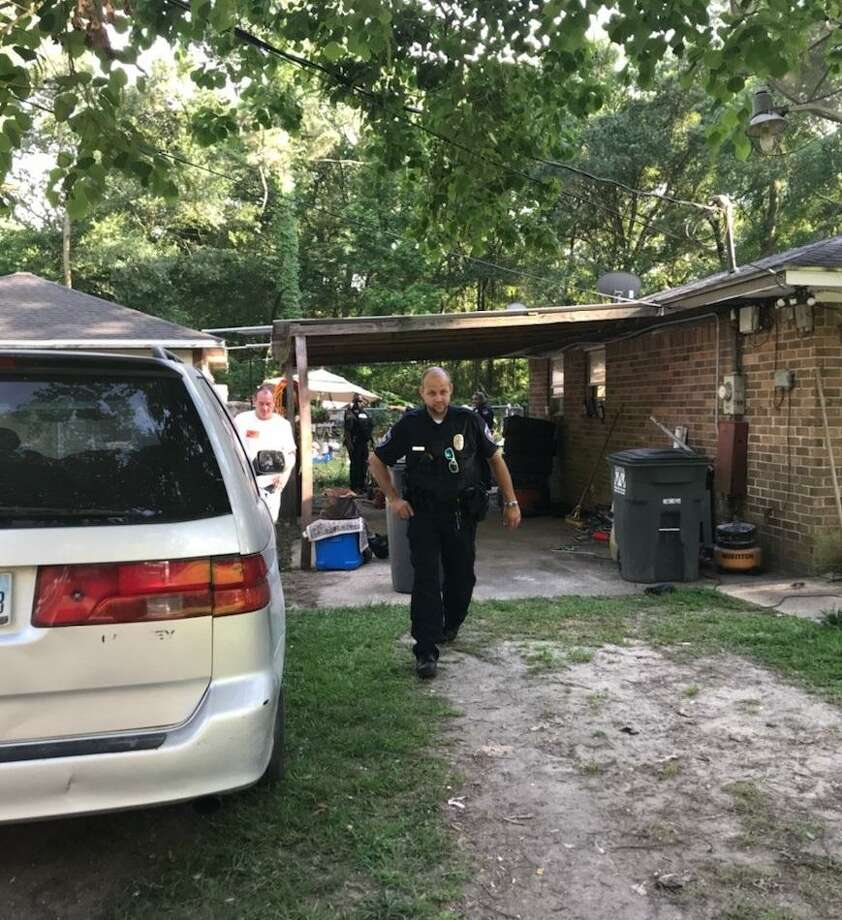 Roman Forest Police Department Officer James Parker's quick response was commended after responding to a call where a 2-year-old reportedly fell into an above-ground pool in the East Montgomery County area Monday. Photo: Roman Forest Police Department