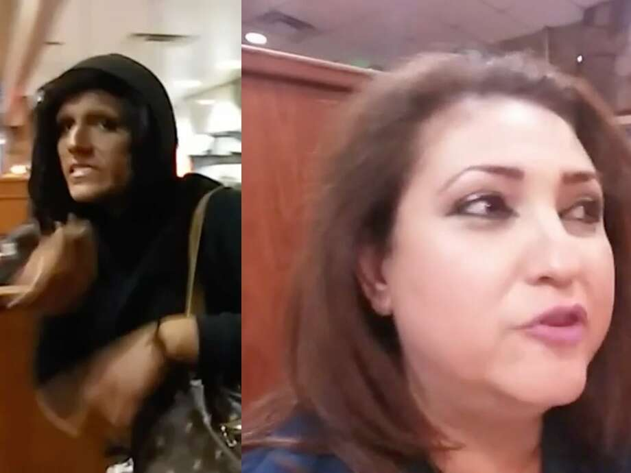 Jazmina Saavedra, who's running for US Congress in California's 44th District and is the spokeswoman for the California branch of Latinos for Trump, posted a video on Facebook on Tuesday from inside a Denny's in California. Photo: Jazmina Saavedra