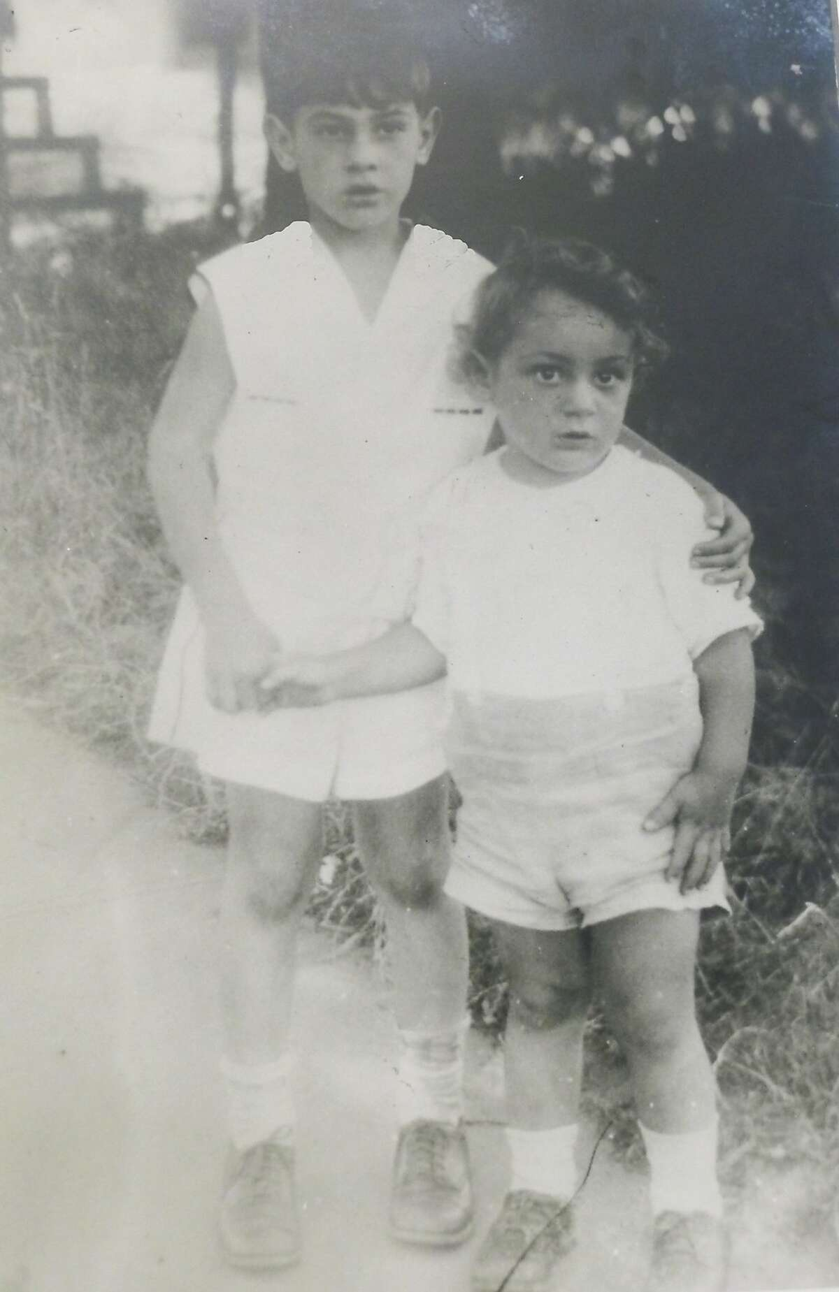 Harvey Milk (right), at age 3, with his brother, Robert, in 1933.
