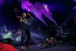 Papa Roach's Jacoby Shaddix performs with Nothing More at Revention Music Center on Saturday, May 12 in Houston.