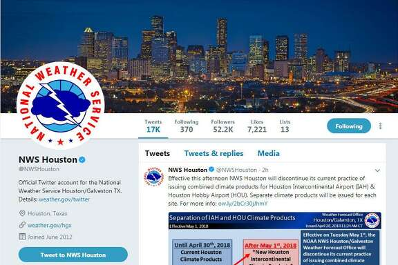 The National Weather Service's Houston-Galveston office is great to follow during a hurricane, or any weather event.