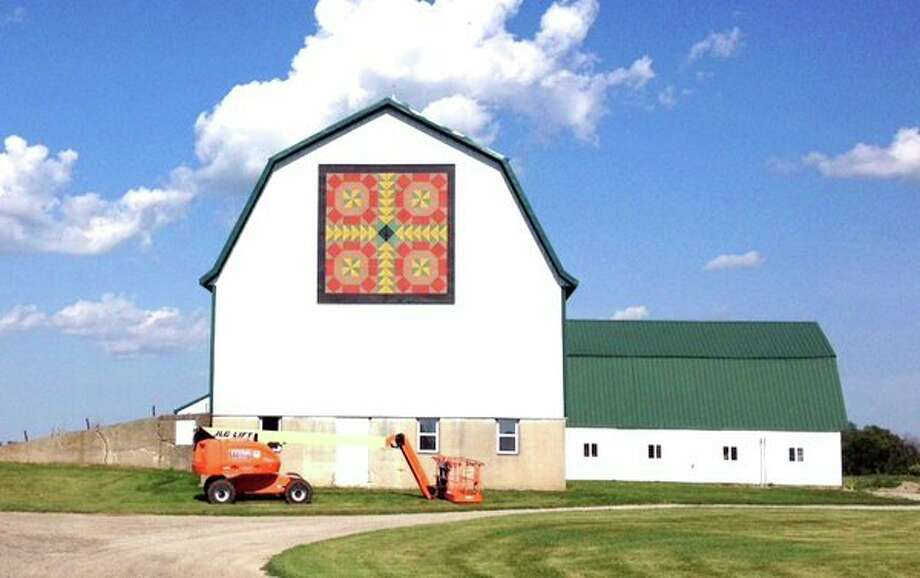 The William and Andrea Shagene barn, located at 6760 N. Cemetery Road, Cass City, boasts the largest quilt square in the State of Michigan at 16-by-16-feet. (Courtesy Photo)