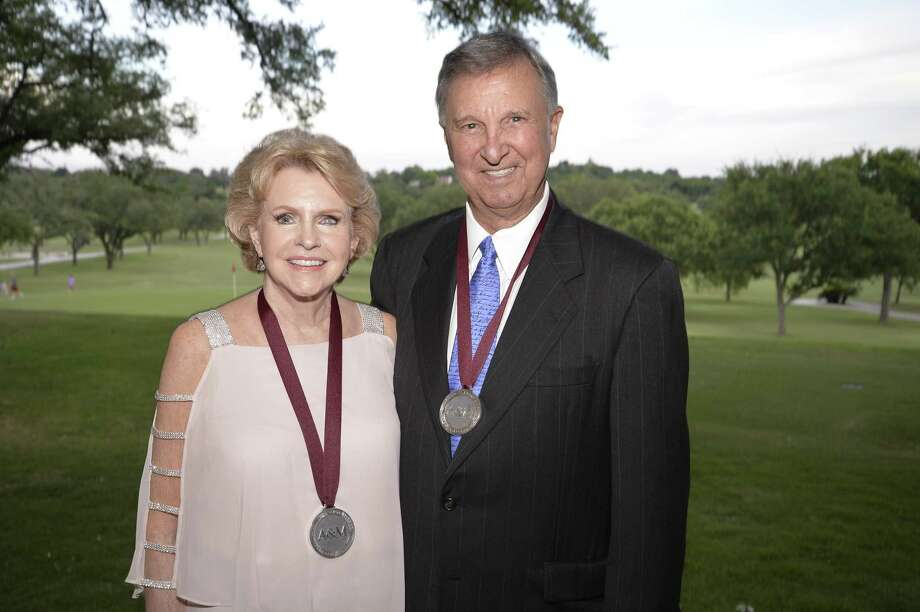 Patricia and Charles Neely, a San Antonio couple, receive the Texas A&M Foundation's highest award Thursday evening. He is the retired owner of San Antonio Steel Company. Photo: Contributed /