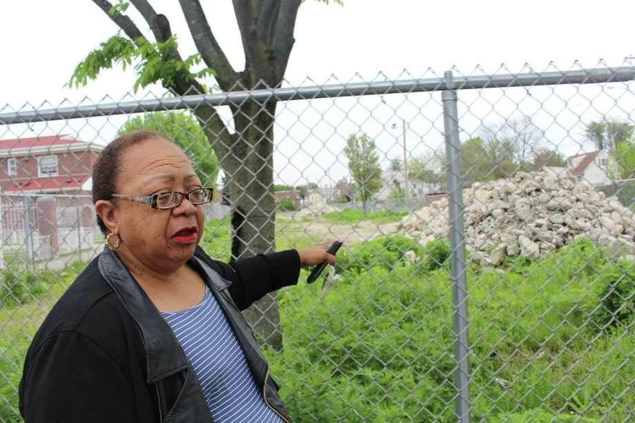 Councilwoman and longtime Marina Village resident, Denese Taylor-Moye expressed concerns over relocation benefits that she believes are still up in the air for over 100 families living near the proposed development site of the Windward apartments. Photo: Jordan Grice / Hearst Connecticut Media / Connecticut Post