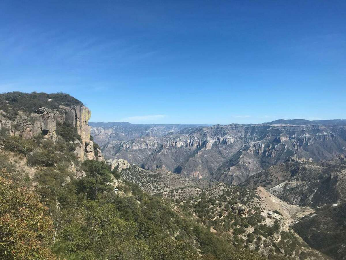 A view from Copper Canyon from the lobby of the Hotel Mirador.