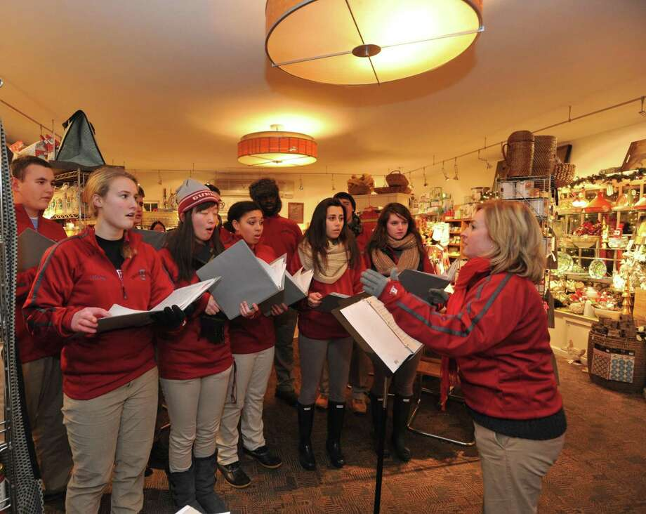 "Emma Wang, a 2017-18 Gunn Scholar at The Gunnery, will present ""Music Education in American Private Schools"" at 12 p.m. on Thursday, May 24 in the Wykeham Room of the Gunn Memorial Library as part of the History Bites lecture series. Pictured are the Gunnery Troubadours, performing at a previous Holiday in the Depot. History Bites is an annual lunchtime lecture series with topics of local history at different heritage sites throughout Northwestern Connecticut. Attendees are invited to bring lunch. Beverage and dessert will be provided by the hosting organization. Call the Gunn Museum at 860-868-7756 or view www.gunnmuseum.org for more information Photo: Contributed Photo"