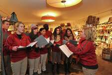 "Emma Wang, a 2017-18 Gunn Scholar at The Gunnery, will present ?""Music Education in American Private Schools?"" at 12 p.m. on Thursday, May 24 in the Wykeham Room of the Gunn Memorial Library as part of the History Bites lecture series. Pictured are the Gunnery Troubadours, performing at a previous Holiday in the Depot. History Bites is an annual lunchtime lecture series with topics of local history at different heritage sites throughout Northwestern Connecticut. Attendees are invited to bring lunch. Beverage and dessert will be provided by the hosting organization. Call the Gunn Museum at 860-868-7756 or view www.gunnmuseum.org for more information"