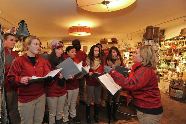 """Emma Wang, a 2017-18 Gunn Scholar at The Gunnery, will present """"Music Education in American Private Schools"""" at 12 p.m. on Thursday, May 24 in the Wykeham Room of the Gunn Memorial Library as part of the History Bites lecture series. Pictured are the Gunnery Troubadours, performing at a previous Holiday in the Depot. History Bites is an annual lunchtime lecture series with topics of local history at different heritage sites throughout Northwestern Connecticut. Attendees are invited to bring lunch. Beverage and dessert will be provided by the hosting organization. Call the Gunn Museum at 860-868-7756 or view www.gunnmuseum.org for more information"""