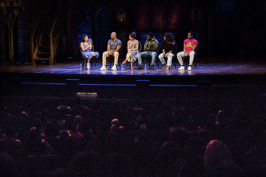 Hamilton cast answer questions from Houston students during the EduHam Program, Thursday, May 17, 2018, in Houston. ( Marie D. De Jesus / Houston Chronicle ) Photo: Marie D. De Jesus, Houston Chronicle / Houston Chronicle / © 2018 Houston Chronicle