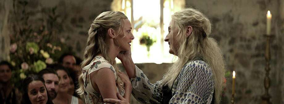 "Meryl Streep and Amanda Seyfried in ""Mamma Mia! Here we Go Again."" Photo: Universal Pictures, HO / TNS / Los Angeles Times"