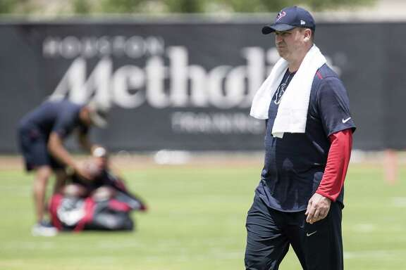 Houston Texans head coach Bill O'Brien walks across the field during rookie mini camp at The Methodist Training Center on Friday, May 11, 2018, in Houston. ( Brett Coomer / Houston Chronicle )