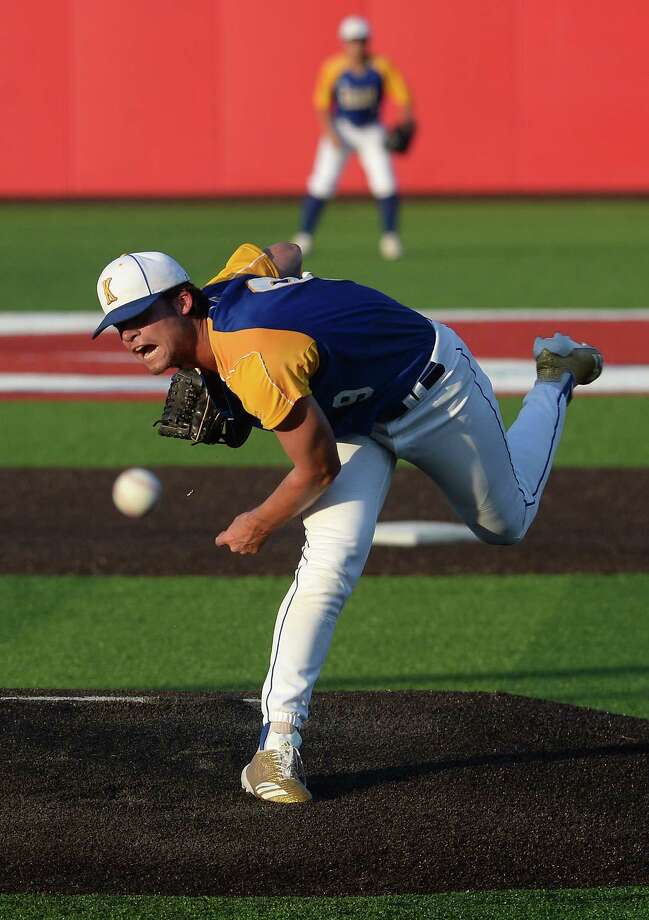 Kelly's Thomas Burbank fires off a pitch during their TAPPS state final tournament game against Liberty Christian at Crosby. Photo taken Tuesday, May 15, 2018 Kim Brent/The Enterprise Photo: Kim Brent / BEN