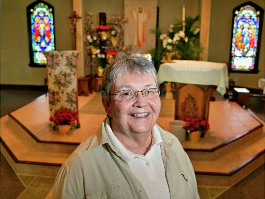 Sister Mary Lou Liptak in the chapel of St. Lucy/St. Bernadette Church Thursday May 10, 2018 in Altamont, NY. (John Carl D'Annibale/Times Union)