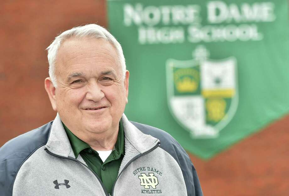 After 48 years at the school, Tom Marcucci will retire from full-time status at Notre Dame-West Haven effective July 1. Photo: Peter Hvizdak / Hearst Connecticut Media / New Haven Register
