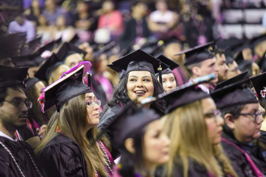 Texas A&M International University graduates participate in the TAMIU Commencement Ceremony on Friday, May 18, 2018 at the Laredo Energy Arena. Photo: Danny Zaragoza/Laredo Morning Times