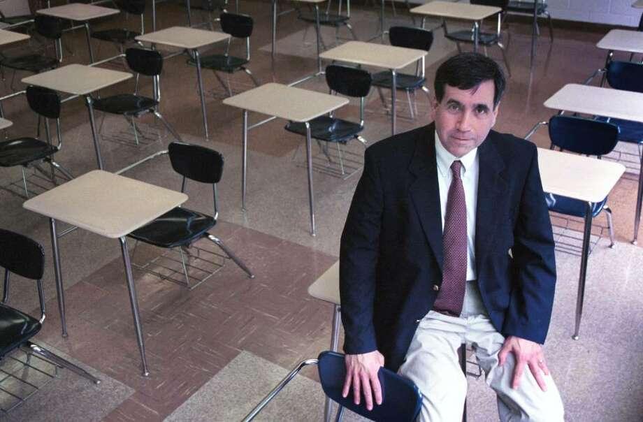 Robert D'Aquila, seen here in 2003 when he was named principal of Trinity Catholic High School. Dru Nadler/photo Photo: File Photo / Stamford Advocate File Photo