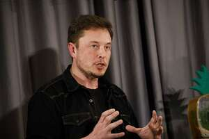 Elon Musk, co-founder and chief executive officer of Tesla Inc., speaks during a Boring Co. event in Los Angeles, California, U.S., on Thursday, May 17, 2018. Closely held SpaceX is going to build its next rocket, known as BFR, at the Port of Los Angeles, an area Musk envisions people getting to using a Boring loop -- if the city approves the idea. Photographer: Patrick T. Fallon/Bloomberg