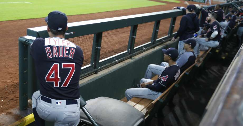 """The Astros will get to take their hacks against Trevor """"Tyler"""" Bauer on Sunday in Cleveland after he cast aspersions on their pitching staff on Twitter that led to a social media brouhaha. Photo: Karen Warren/Houston Chronicle"""