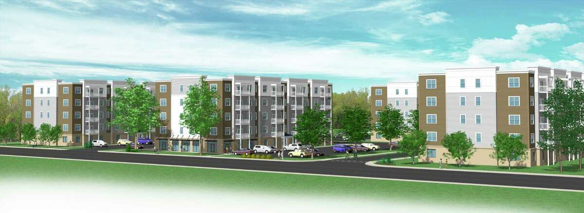 Colonie-based Dawn Homes Management is proposing a multifamily apartment complex on Sandidge Way, off of Fuller Road. Developers plan to build seven, five-story buildings that would offer 252 apartment units, a fitness room, garage parking as well as surface parking. (Photo courtesy of Dawn Homes Management)