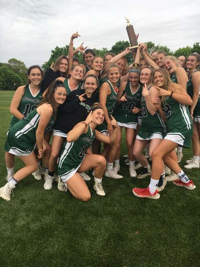 Sacred Heart Greenwich captured the FAA Lacrosse Tournament title for the second straight season with a 19-3 win over visiting Rye Country Day School on Friday, May 18, 2018. Photo: Contributed Photo / Contributed Photo / Stamford Advocate Contributed