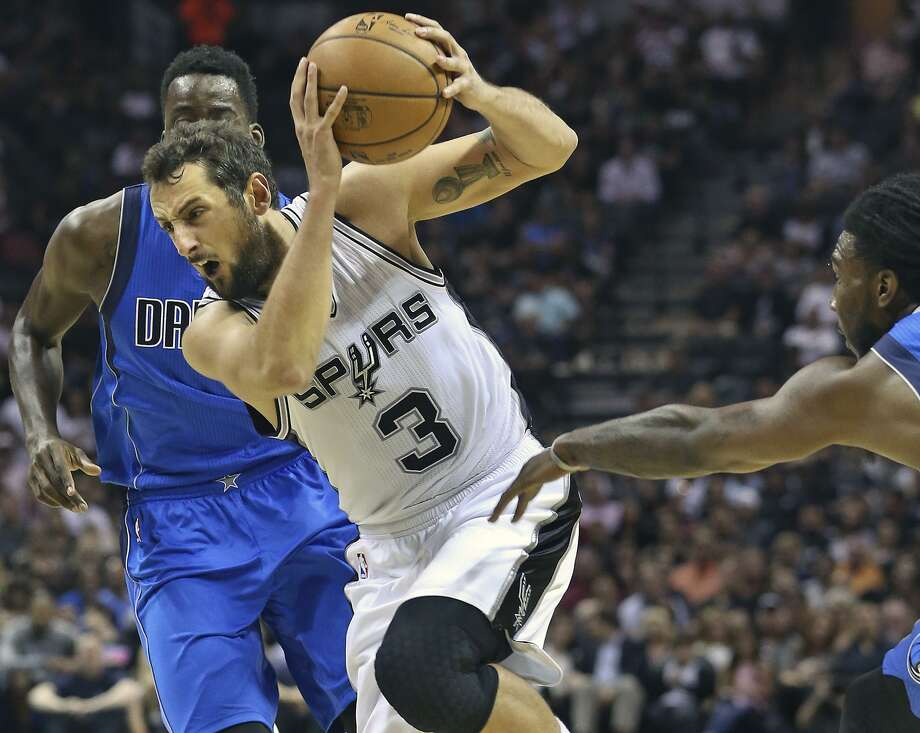 The Spurs didn't draft him, but former No. 18 pick Marco Belinelli was a key reserve on their 2014 championship team. Photo: Tom Reel / San Antonio Express-News