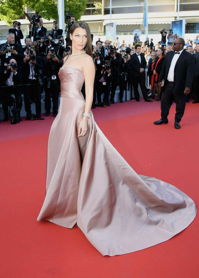 """Bella Hadid attends the screening of """"Ash Is The Purest White (Jiang Hu Er Nv)"""" during the 71st annual Cannes Film Festival at Palais des Festivals on May 11, 2018. Photo: Venturelli/WireImage"""
