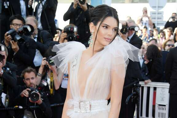 "CANNES, FRANCE - MAY 12:  Kendall Jenner attends the screening of ""Girls Of The Sun (Les Filles Du Soleil)"" during the 71st annual Cannes Film Festival at Palais des Festivals on May 12, 2018 in Cannes, France.  (Photo by Venturelli/WireImage)"