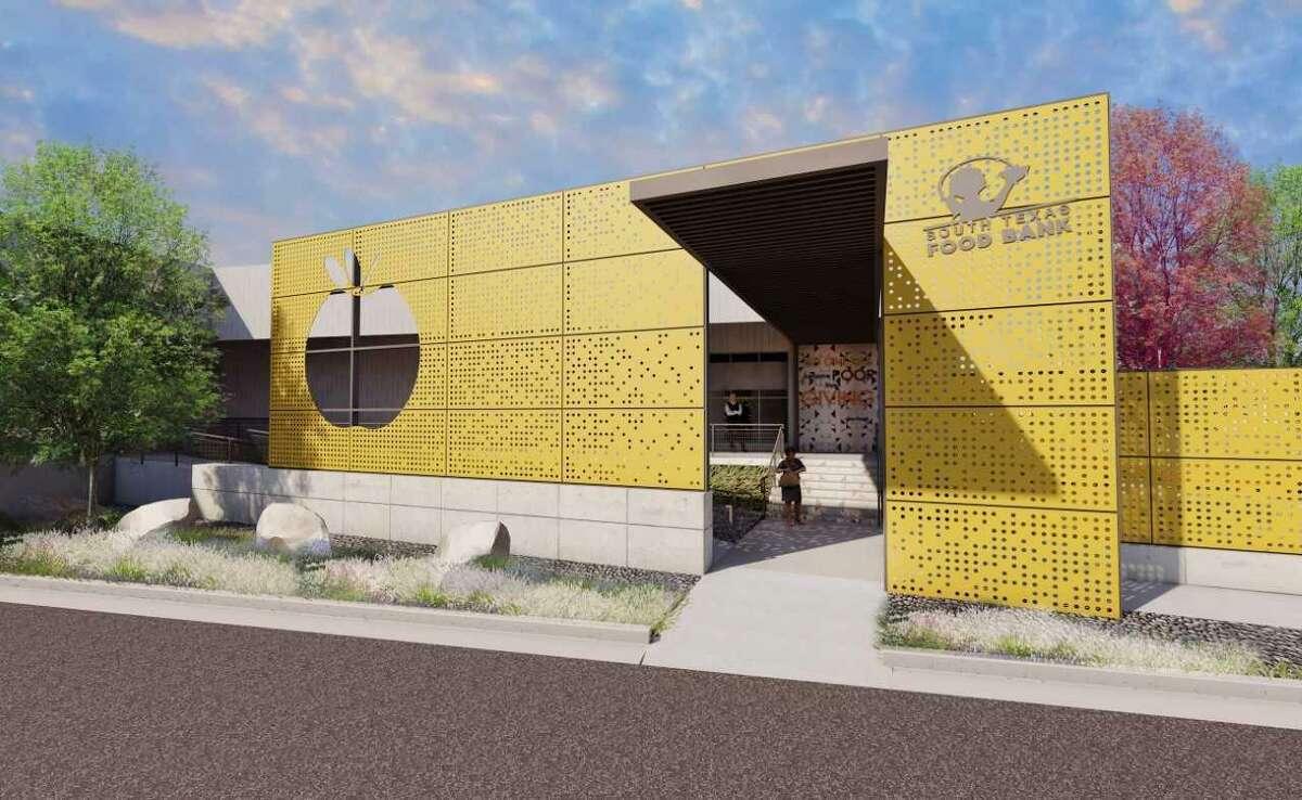 La imagen muestra el boceto de las nuevas instalaciones del Banco de Alimentos del Sur de Texas, ubicadas en 2121 Jefferson. La firma de arquitectos Hickey-Peña y Dominion Builders, LLC fueron contratados para las renovaciones.