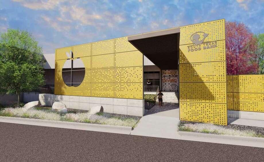 La imagen muestra el boceto de las nuevas instalaciones del Banco de Alimentos del Sur de Texas, ubicadas en 2121 Jefferson. La firma de arquitectos Hickey-Peña y Dominion Builders, LLC fueron contratados para las renovaciones. Photo: Foto De Cortesía /STFB