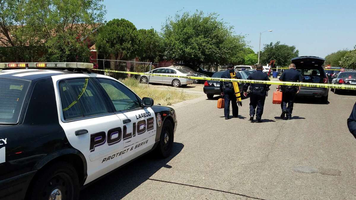 Investigators could be seen walking to the crime scene of an officer-related shooting reported Friday morning in the 300 block of Soria Drive. A man armed with a knife died in a deadly encounter with three Laredo police officers.
