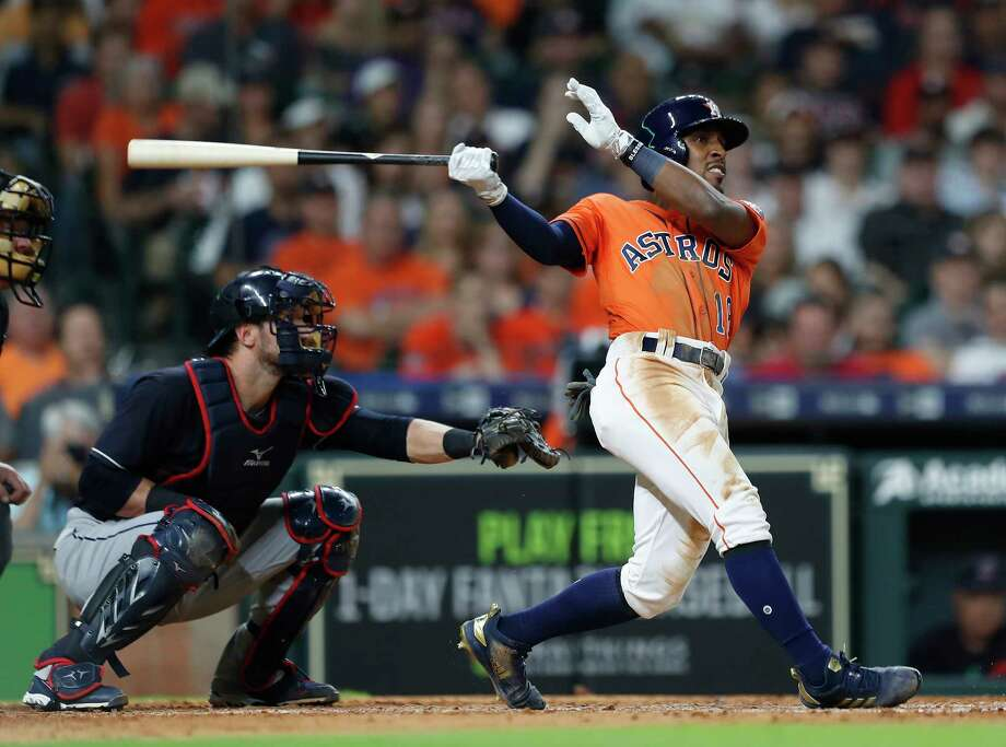 From producing at the plate to his work in the outfield, Tony Kemp has given the Astros what they were lacking from predecessor Jake Marisnick. Photo: Karen Warren, Houston Chronicle / © 2018 Houston Chronicle