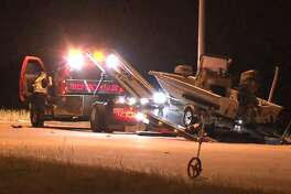 A man was killed by a drunk driver while putting a boat into the back of his flatbed on Grand Parkway near Bridgeland Creek Parkway, the Harris County Sheriff's Office said.