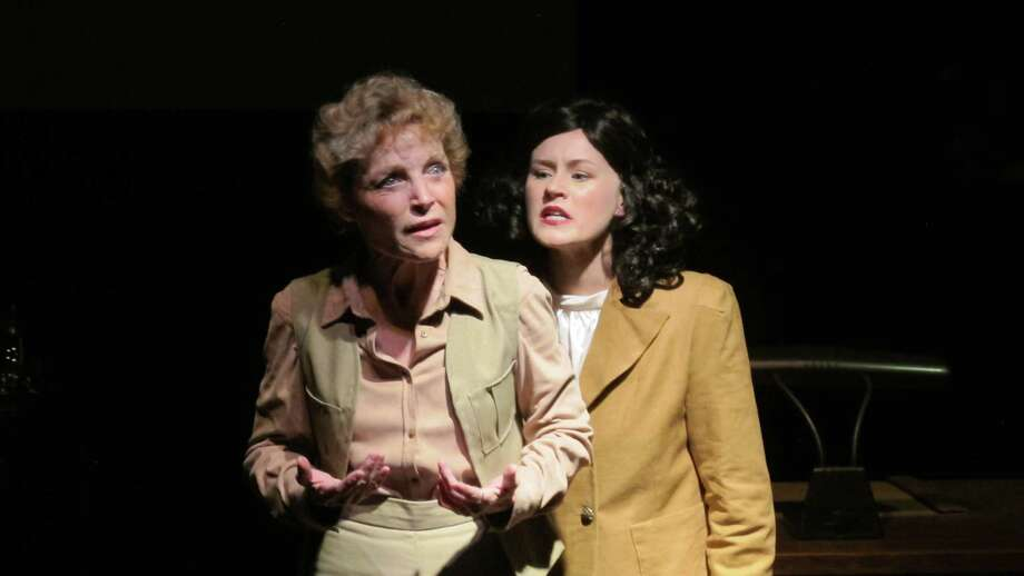 "Roxanne Fay, left, and Olivia Howell in ""Leni"" at Bridge Street Theatre. Photo: Picasa, John Sowle"