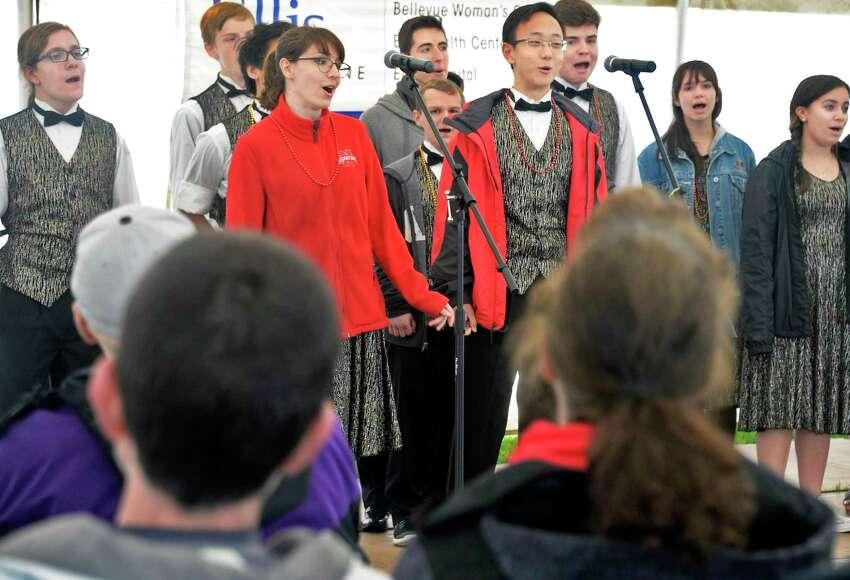 The Niskayuna High School Studio Singers perform at the 37th year Niska-Day Saturday May 19, 2018 in Niskayuna, NY. (John Carl D'Annibale/Times Union)